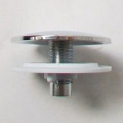 Kitchen Sink Stoppers Kohler Faucet Parts Chrome Plastic Tap Hole Blank Stopper - Plumbers Mate Ltd
